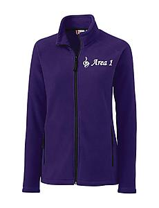 LADIES SUMMIT FULL ZIP MICROFLEECE - Purple